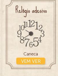 Relógio adesivo