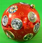 Bola de natal com fotos